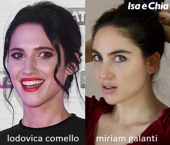 Somiglianza tra Lodovica Comello e Miriam Galanti, la fidanzata di Gilles Rocca
