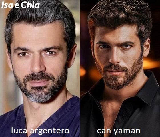 Somiglianza tra Luca Argentero e Can Yaman