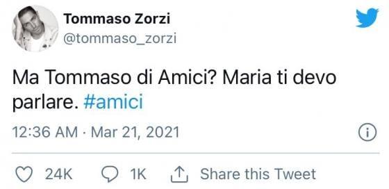 Tommaso Zorzi avvistato in compagnia di Tommaso Stanzani