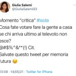 Twitter Giulia Salemi