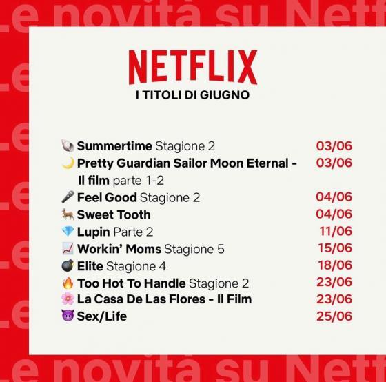 Netflix giugno 2021