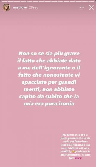 Chiara Nasti ig stories