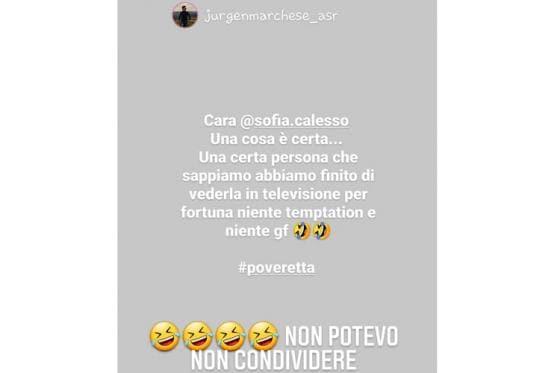 screen Instagram Sofia Calesso