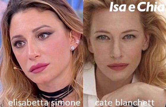 Somiglianza tra Elisabetta Simone e Cate Blanchett