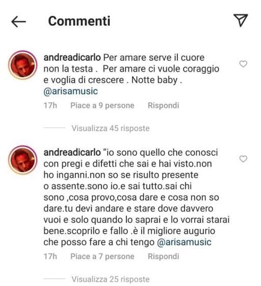 Arisa Andrea Di Carlo pensiero
