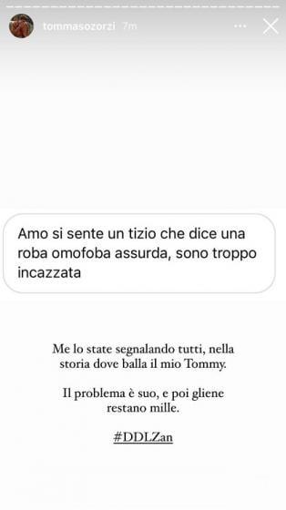 Tommaso Zorzi insulto omofobo