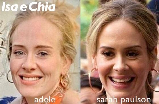 Somiglianza tra Adele e Sarah Paulson
