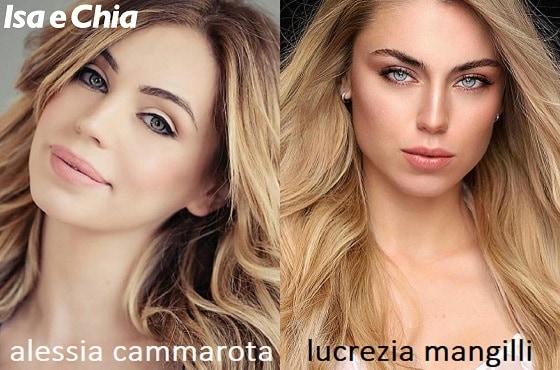 Somiglianza tra Alessia Cammarota e Lucrezia Mangilli di Love Island Italia
