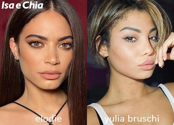Somiglianza tra Elodie e Yulia Bruschi di Love Island