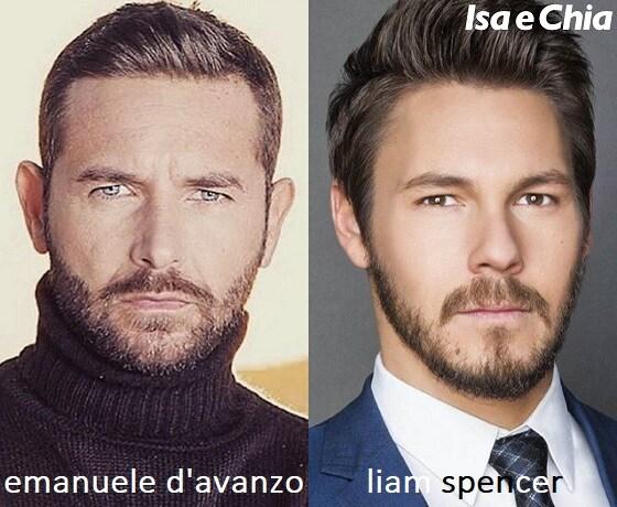 Somiglianza tra Emanuele D'Avanzo e Liam Spencer di Beautiful