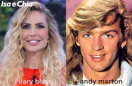 Somiglianza tra Ilary Blasi e Sandy Marton