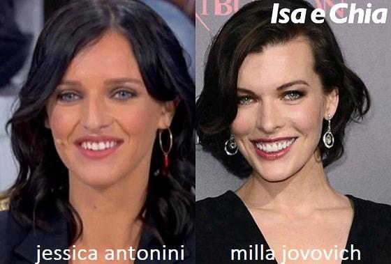 Somiglianza tra Jessica Antonini e Milla Jovovich
