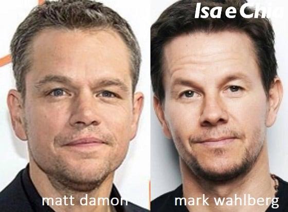 Somiglianza tra Matt Damon e Mark Wahlberg