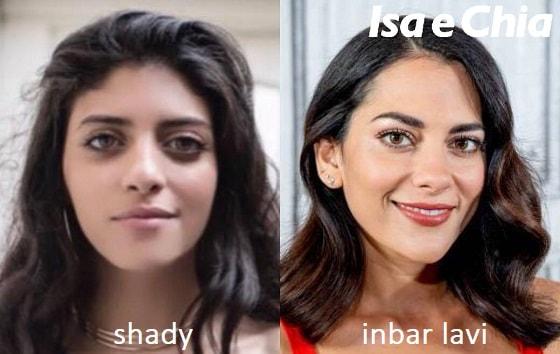 Somiglianza tra Shady di Amici 16 e Inbar Lavi