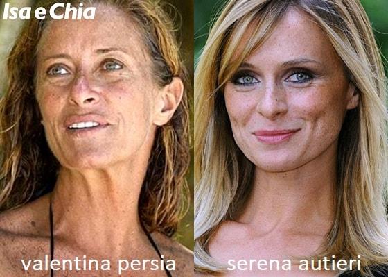 Somiglianza tra Valentina Persia e Serena Autieri