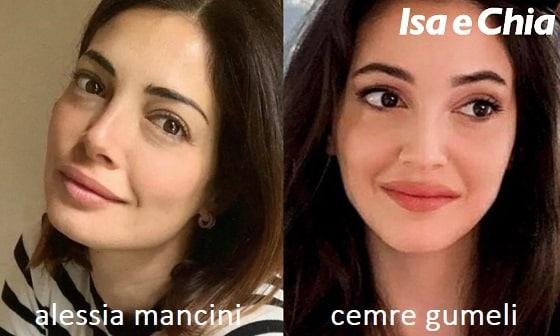Somiglianza tra Alessia Mancini e Cemre Gumeli