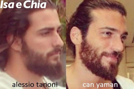 Somiglianza tra Alessio Tanoni e Can Yaman