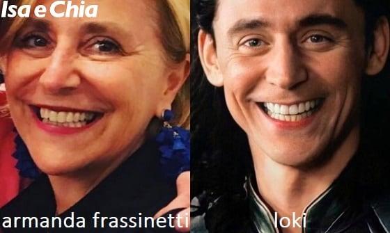 Somiglianza tra Armanda Frassinetti e Tom Hiddleston
