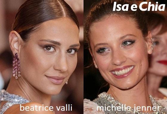Somiglianza tra Beatrice Valli e Michelle Jenner