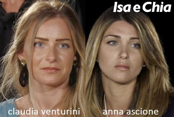 Somiglianza tra Claudia Venturini e Anna Ascione