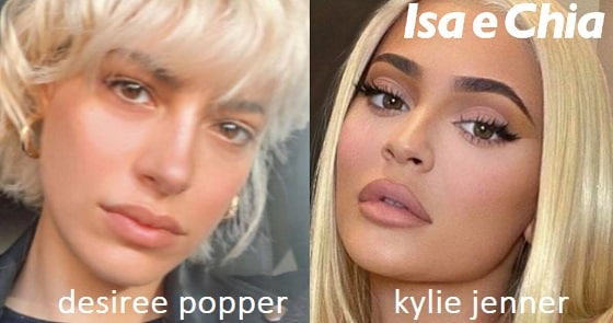 Somiglianza tra Desiree Popper e Kylie Jenner