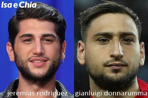 Somiglianza tra Jeremias Rodriguez e Gianluigi Donnarumma