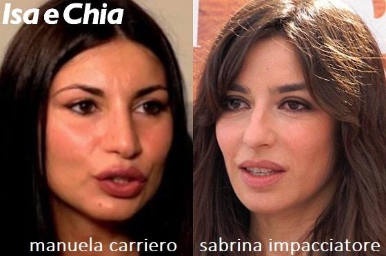 Somiglianza tra Manuela Carriero e Sabrina Impacciatore
