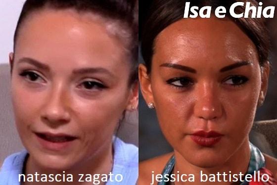Somiglianza tra Nascia Zagato e Jessica Battistello
