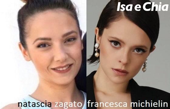 Somiglianza tra Natascia Zagato e Francesca Michielin