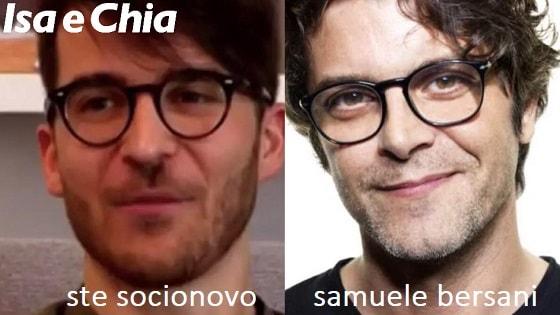 Somiglianza tra Ste Socionovo e Samuele Bersani