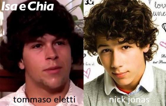 Somiglianza tra Tommaso Eletti e Nick Jonas