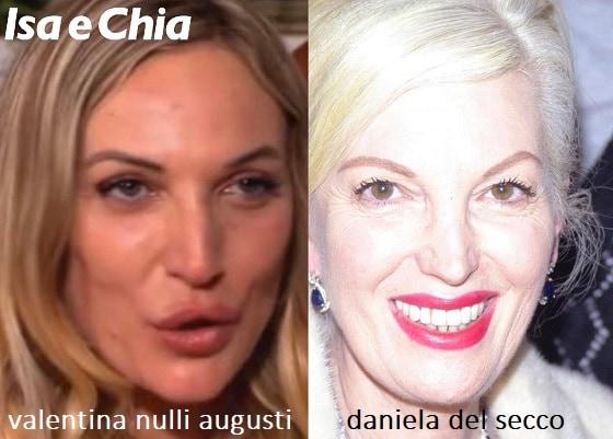 Somiglianza tra Valentina Nulli Augusti e Daniela Del Secco