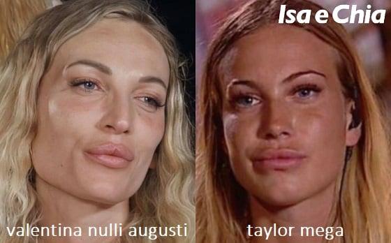 Somiglianza tra Valentina Nulli Augusti e Taylor Mega