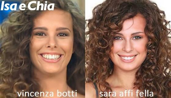Somiglianza tra Vincenza Botti e Sara Affi Fella
