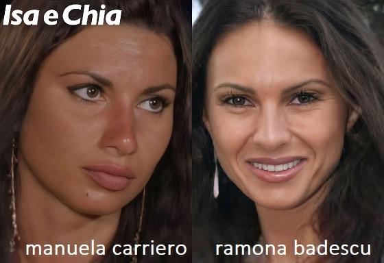 Somiglianza tra Manuela Carriero e Ramona Badescu