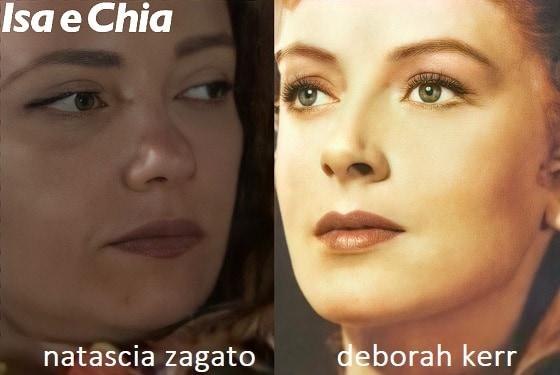 Somiglianza tra Natascia Zagato e Deborah Kerr