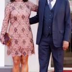 Venezia 78 - Veronica Berti in Ermanno Scervino e Andrea Bocelli