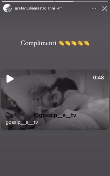 Gf Vip 6, baci tra Sophie Codegoni e Gianmaria Antinolfi: la piccata reazione di Greta Mastroianni