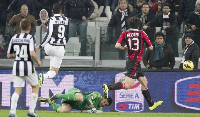 vucinic vs milan