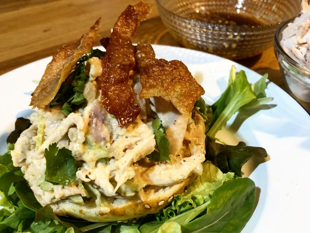 impiattamento insalata di pollo