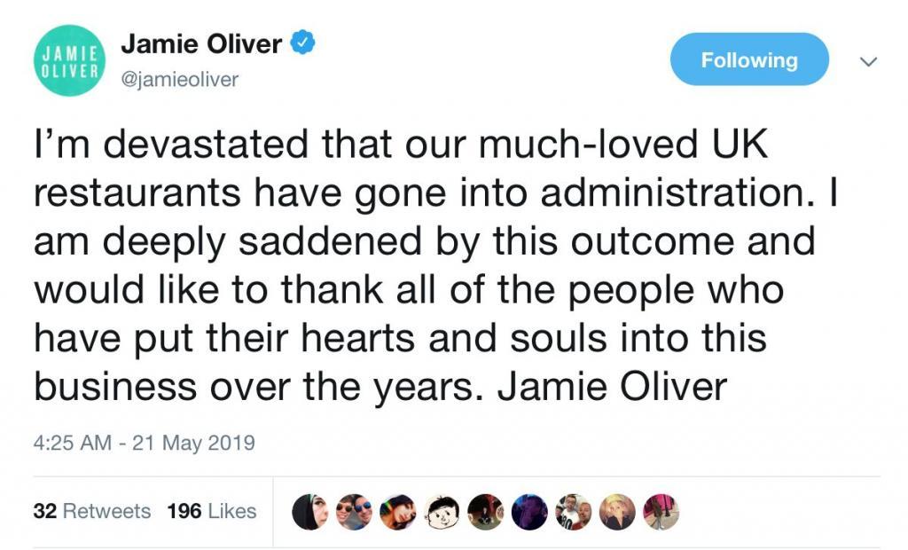jamie oliver ristoranti falliti