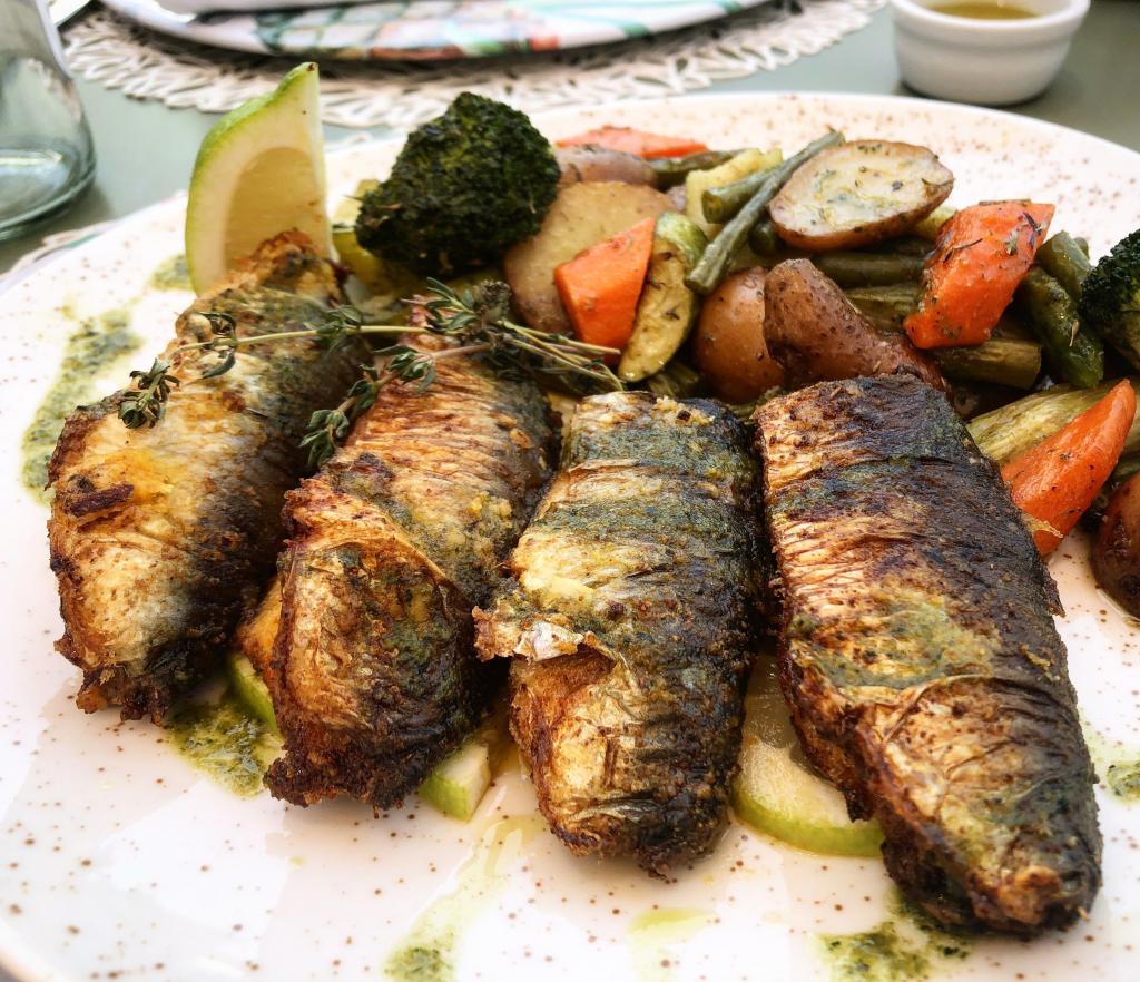 sardine chermoula griglia