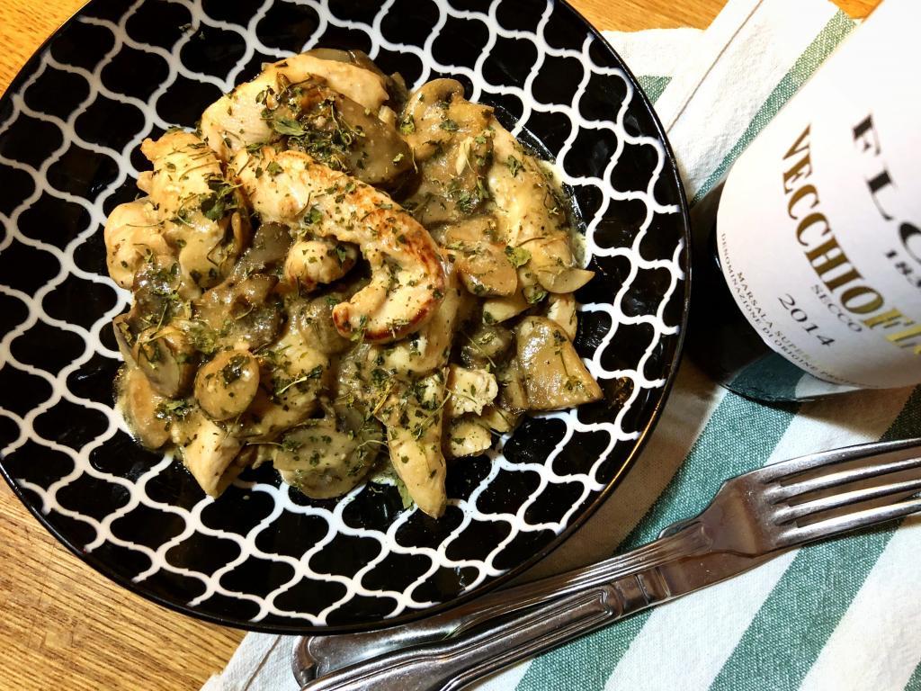 pollo marsala funghi fieno greco ricetta