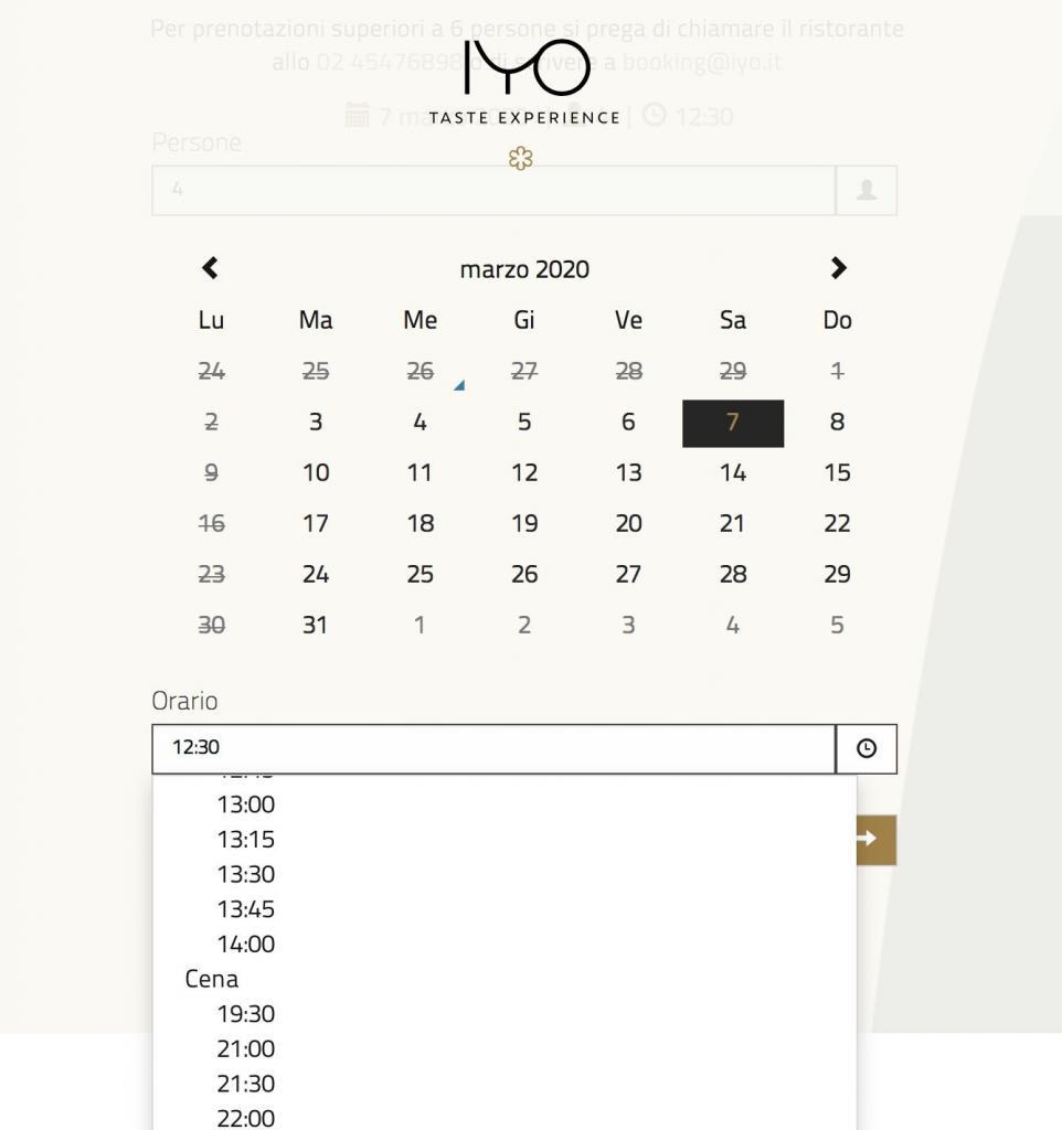 iyo prenotazioni