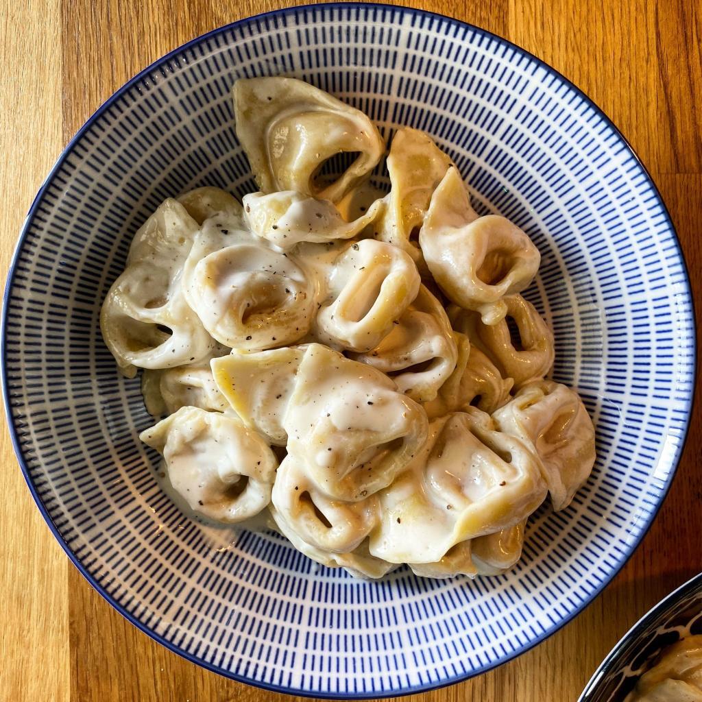 cappellacci mortadella parmigiano pecorino panna