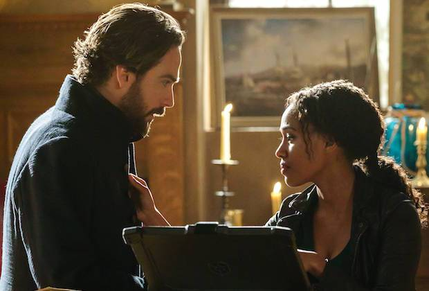 "SLEEPY HOLLOW: L-R: Tom Mison and Nicole Beharie in the""Ragnarok"" season finale episode of SLEEPY HOLLOW airing Friday, April 8 (8:00-9:00 PM ET/PT) on FOX. ©2016 Fox Broadcasting Co. Cr: Tina Rowden/FOX"