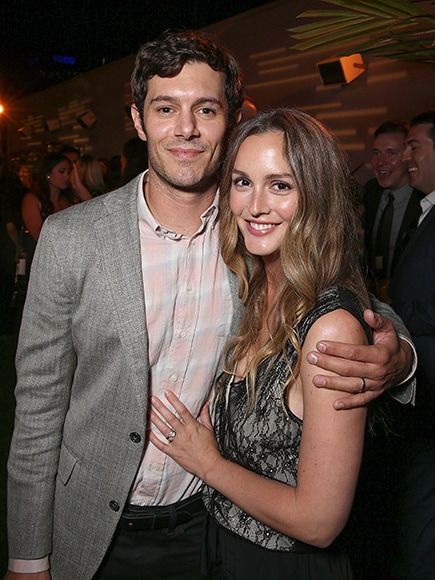 "LOS ANGELES, CA - AUGUST 23: Adam Brody and Leighton Meester attend the after party for the premiere pf Crackle's ""Startup"" on August 23, 2016 in Los Angeles, California. (Photo by Todd Williamson/Getty Images)"