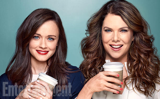 Lauren Graham and Alexis Bledel photographed on the Gilmore Girls' set in Burbank, CA on SUNDAY, MARCH 13, 2016. Photographs by Chris Craymer Wardrobe Styling: Brenda Maben; Wardrobe Styling Assistant: Briana Heavener; Bledel's hair: Bridget Brager/Bumble and Bumble/The Wall Group; Makeup: Kelsey Deenihan/mark./The Wall Group; Graham's Hair: David Babaii/ghd Tools; Makeup: Angela Levin/TRACEY MATTINGLY; Production: Allison Elioff/Sunny 16 Productions