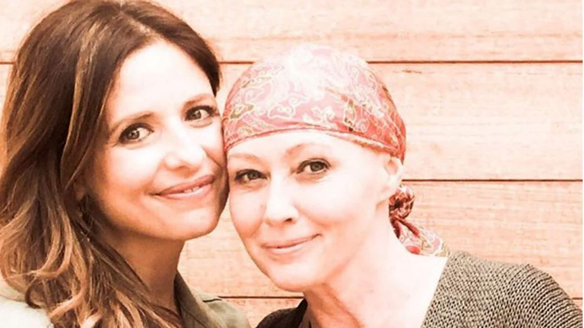 Sarah Michelle Gellar and Shannen Doherty