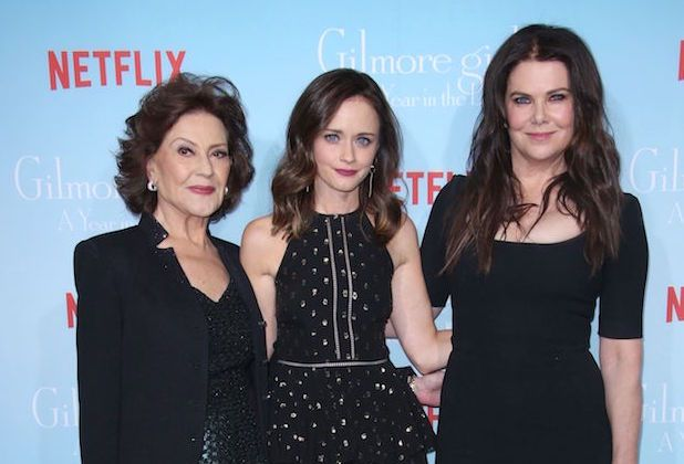 Mandatory Credit: Photo by Matt Baron/BEI/Shutterstock (7448917ag) Kelly Bishop, Alexis Bledel, Lauren Graham 'Gilmore Girls: A Year in the Life' TV Series Premiere, Arrivals, Los Angeles, USA - 18 Nov 2016